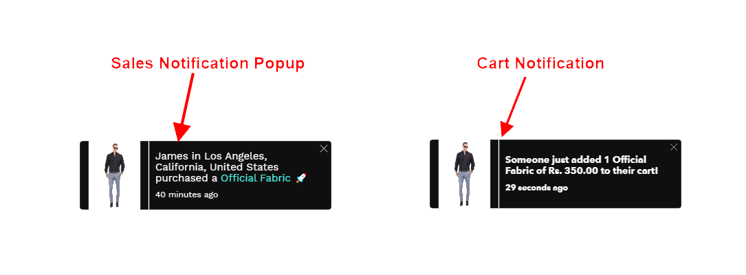 Sales And Cart Pop Up By MakeProSimp